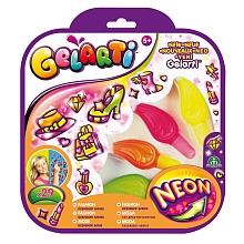 Gelarti - Cpubt Néon Fluo Fashion Un blister Gelarti pour créer des stickers très colorés contenant 4 tubes de gel et + de 25 stickers repositionnables à personnaliser.