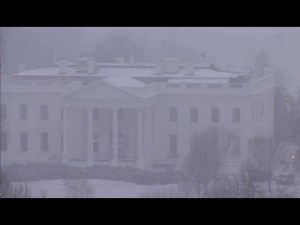 Snowzilla arrive sur la maison blanche the White House – YouTube