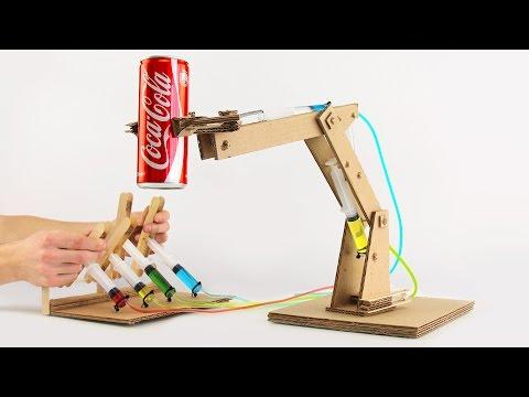Fabriquer un bras hydraulique articulé en carton – YouTube