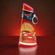 Room-Studio-864955-Lampe-torcheveilleuse-2-en-1-Plastique-Rouge-Cars-0-1