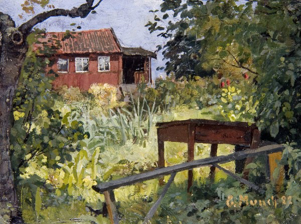 Memoria Narrante, Edward Munch, giardino con casa rossa, foto web