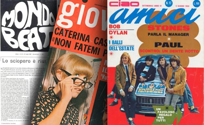 Memoria Narrante, riviste Amici,Mondo Rock, Giovani anni 60, immagine web