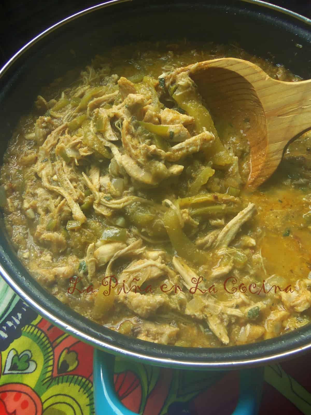Chicken Chile Verde Pollo Con Chile Verde  La Pia en