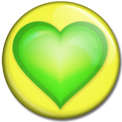 Image result for green and yellow hearts