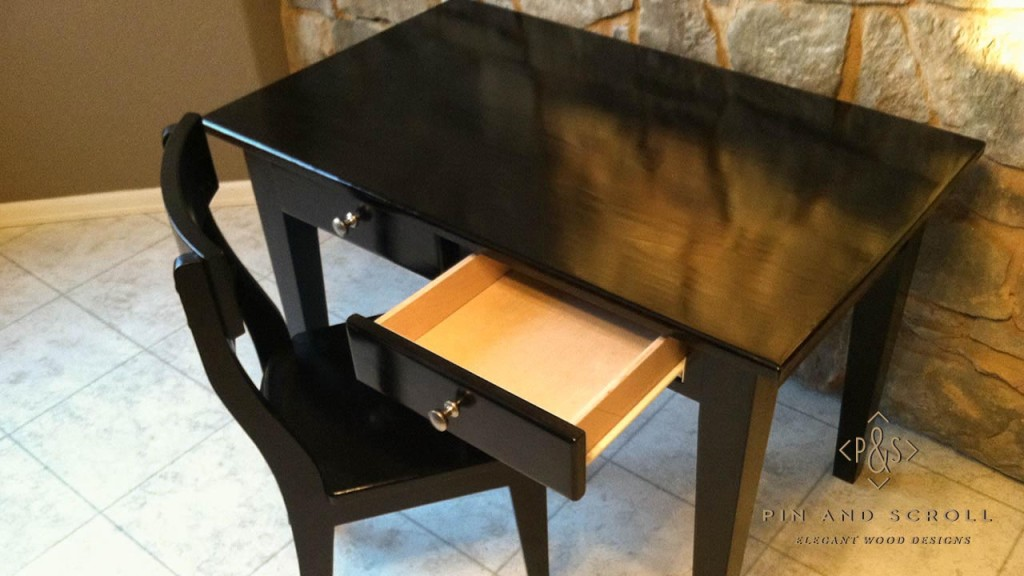 Black Childs Desk and Chair  pinandscrollcom