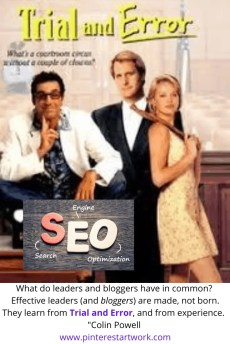 Search Engine Optimization (SEO) doesn't have to be a game of Trial and Error.  In the Game of SEO you learn from experience (and lots of practice).