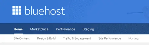 Bluehost Hosting section