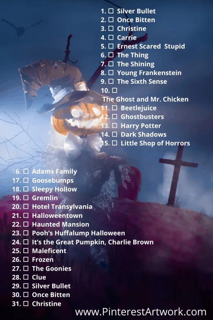 Blogtober Halloween Movie pins 1 A blog for the love of Pinterest