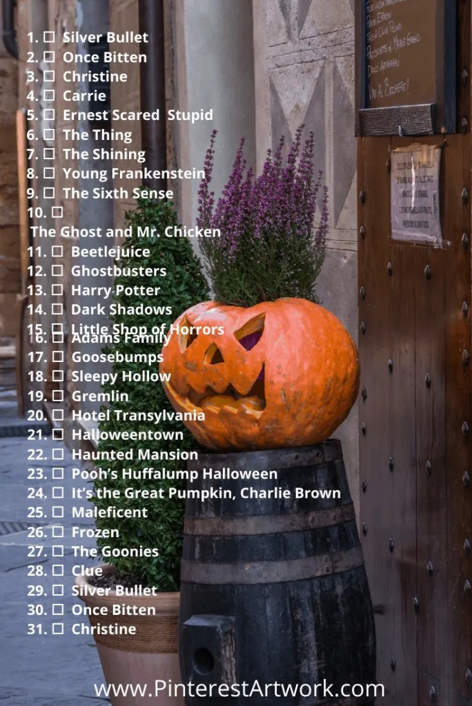 Blogtober Halloween Movie pins 2 A blog for the love of Pinterest