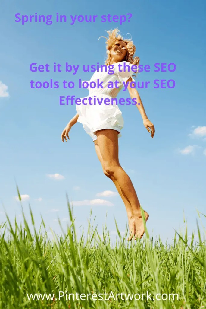 Is there a spring in your step?  Get it by using these SEO tools to look at your SEO Effectiveness.