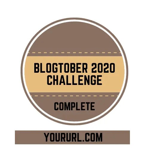Blogtober Badge 2020 Completed 4 A blog for the love of Pinterest