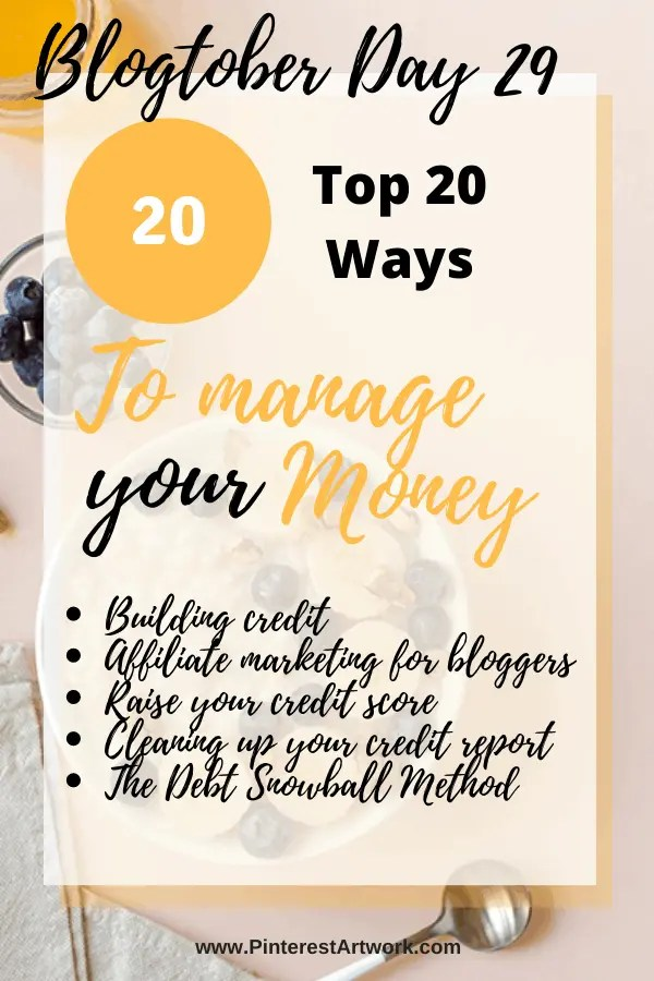 Top 20 Ways to manage your money 3 A blog for the love of Pinterest