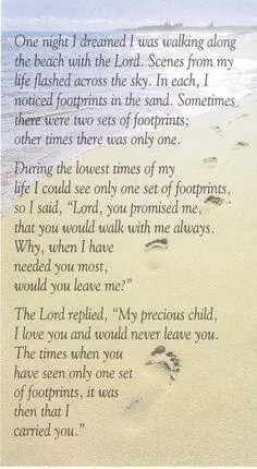 faith footprints in the sand A blog for the love of Pinterest