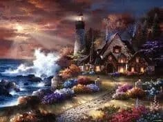 Blogtober Day 22 – Thomas Kinkade Paintings – The Painter of Light