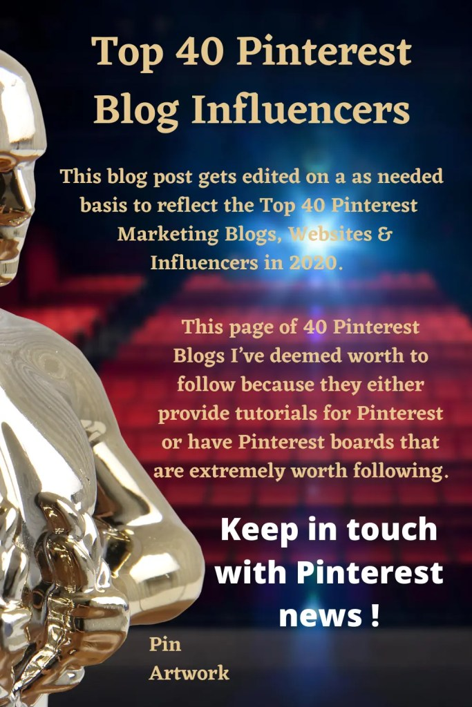 Top 40 Pinterest Blogs