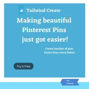 Tailwind Create - a new program to create beautiful Pinterest pins to save you a lot of time.