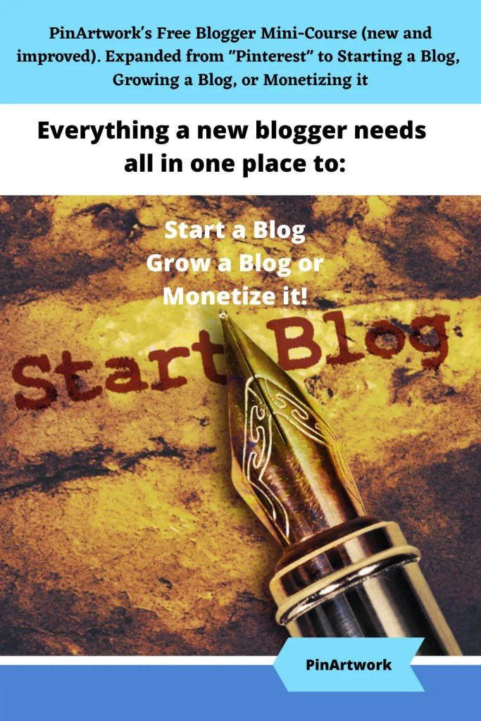 PinArtworks free blogging mini course 2 A blog for the love of Pinterest