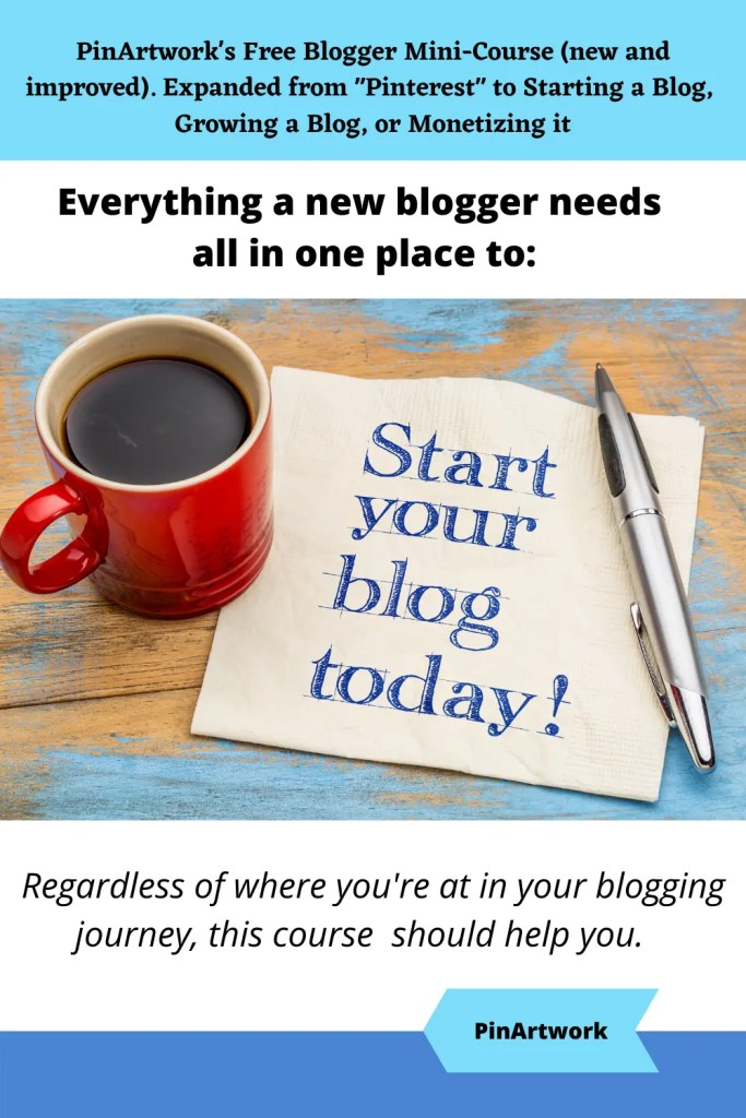 PinArtworks free blogging mini course 3 A blog for the love of Pinterest