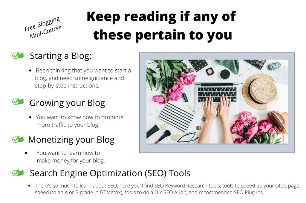 Free Blogging Mini Course A blog for the love of Pinterest