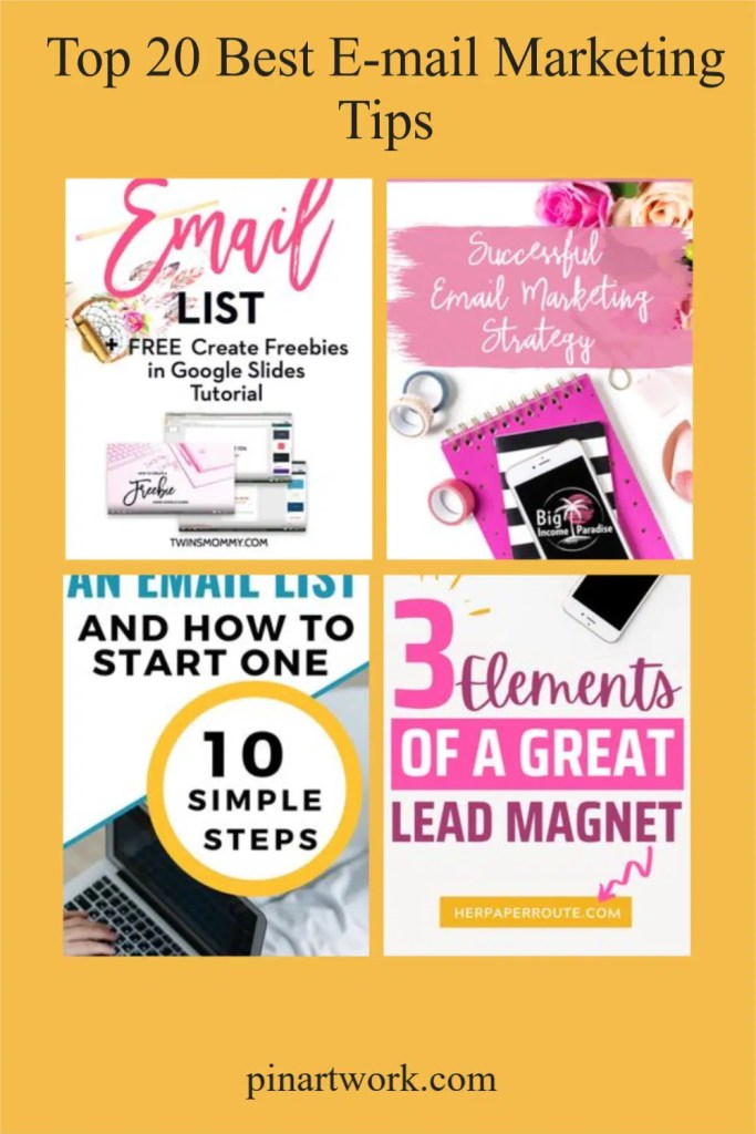 Top 20 Best E-mail Marketing Tips
