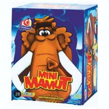 Dulce malvavisco con galleta mini mamaut con 28 pzs.
