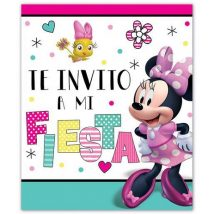 invitaciones de carton mimi, minnie mouse