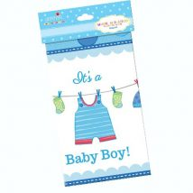 mantel de plastico de baby shower es un niño, it´s a boy rectangular para mesa