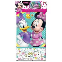 mantel de minnie mouse, mimi de plastico rectangular