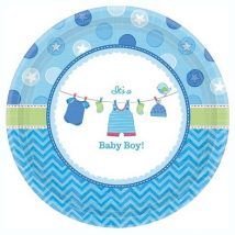 platos de carton de baby shower es un niño, it´s a boy