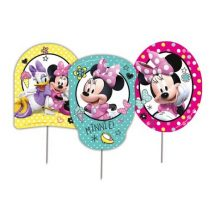 toppers de carton de mimi, minnie mouse para decorar la mesa