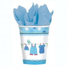 vasos de carton baby shower niño, it´s a boy
