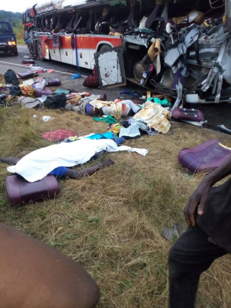 11 Dead And Over 80 Passengers Seriously Injured As Cargo Truck Crashes Into 2 Buses At Kyekyewere Whilst On Their Way To Accra (Photos) 19