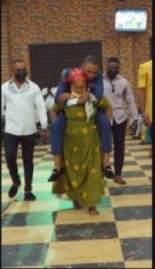 Crazy Moment Angel Obinim Made Old Woman With Chronic Waist Pain Carried Him At Her Back. 6