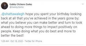 This Lovely Birthday Message From Gabby Otchere Darko To Shatta Wale Proves He's A Shatta Fun. 4