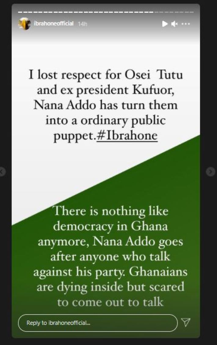 I've Lost Respect For Osei Tutu And Ex President Kufuor, Nana Addo Has Turned them Into An Ordinary Public Puppet – Ibrah One Alleges 2