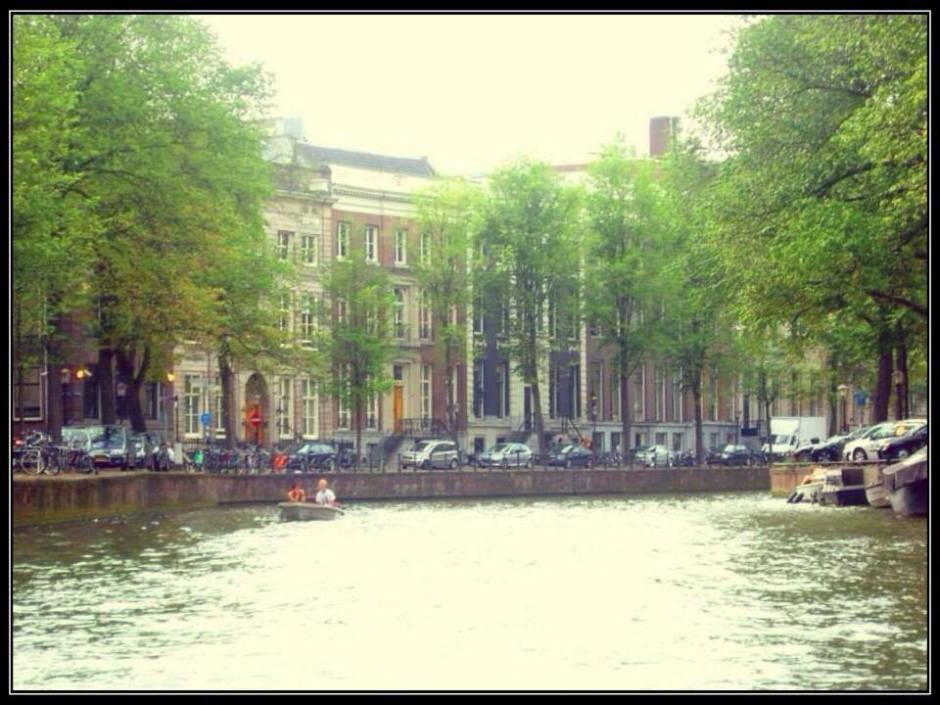 Houses along the canals of Amsterdam