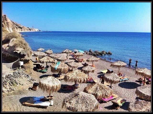 Eros beach, Santorini