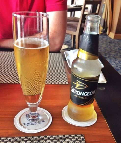 Strongbow at 261 Restaurant, The Els Golf Club