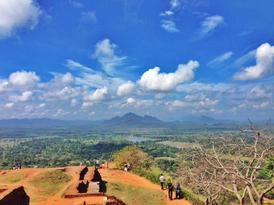 The view from the top of Sigiriya Rock Fortress