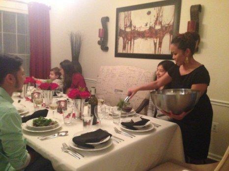 Thanksgiving dinner.