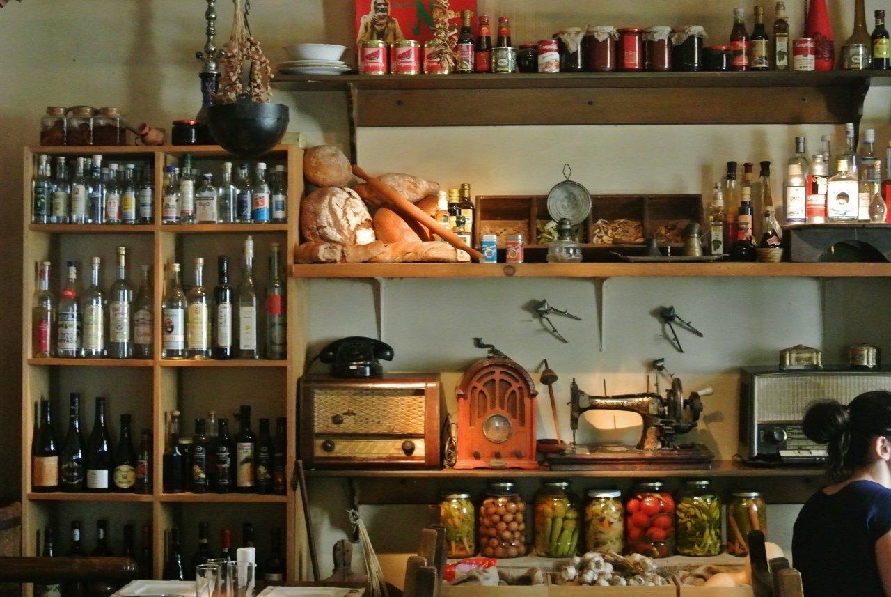 thessaloniki greece molyvos a vintage dining setting. Black Bedroom Furniture Sets. Home Design Ideas