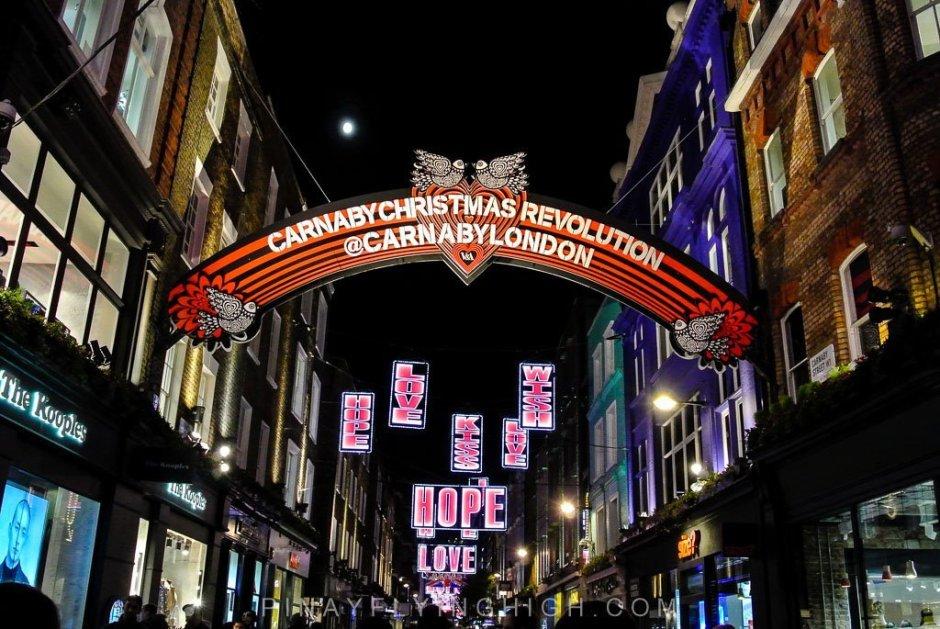 CARNABY ST LONDON CHRISTMAS LIGHTS - PinayFlyingHigh.com