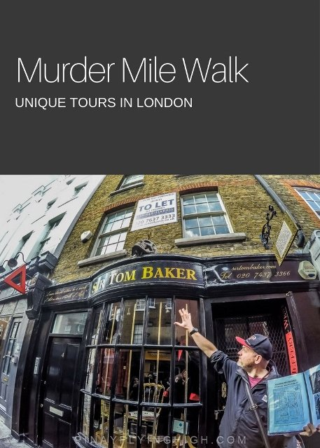 Murder Mile Walk, Unique Tours in London
