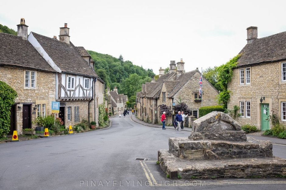 The main market area of Castle Combe.