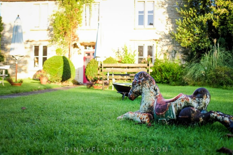 The garden of Fosse Farmhouse in Castle Combe.