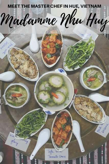 Dishes served at Madame Nhu Huy's dinner in Hue