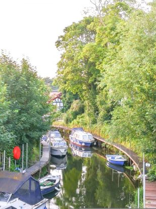 River view from The Old Crown Public House Weybridge