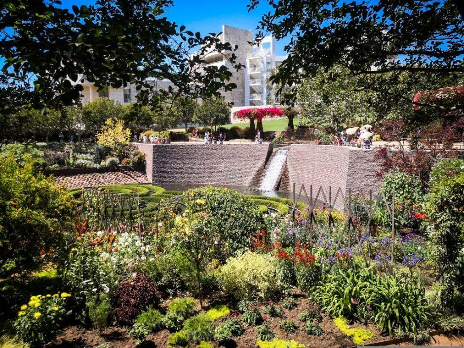 Garden at Getty Museum, Los Angeles, California