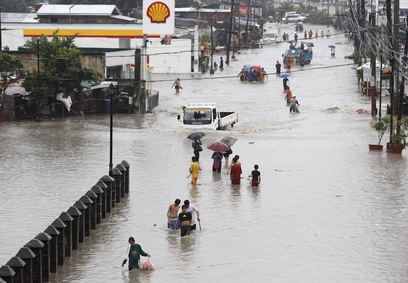 Severe flooding in Metro Manila. Photo credit: MSNBC