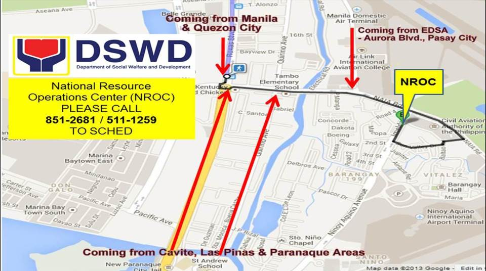 DSWD NROC map